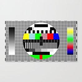 PAL TV Testing Widescreen Canvas Print