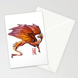 Rose Coral Dragon Stationery Cards