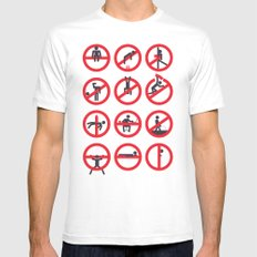 Not Permitted MEDIUM White Mens Fitted Tee