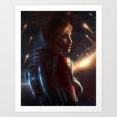 Mass Effect - Commander Shepard Art Print