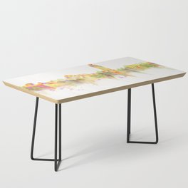 Colorful Stanford California Skyline - University Coffee Table