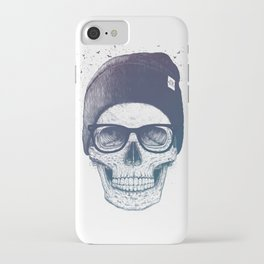 Color skull in a hat iPhone Case