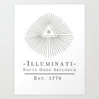 illuminati Art Prints featuring Illuminati by Fabian Bross