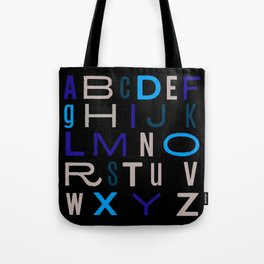 Eclectic Alphabet Tote Bag