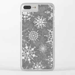 Winter Snowflakes Clear iPhone Case
