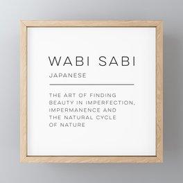 Wabi Sabi Definition Framed Mini Art Print