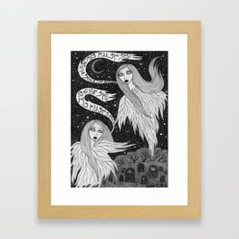 Two Ghosts Framed Art Print