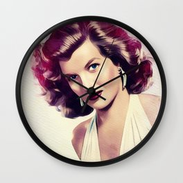 Corinne Calvet, Vintage Actress Wall Clock