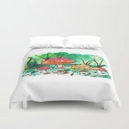Toadstool Mushroom Fairy Land Duvet Cover
