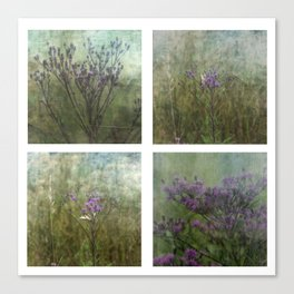 Eastern Tiger Swallowtail Butterfly and Ironweed Wildflower Collage Canvas Print