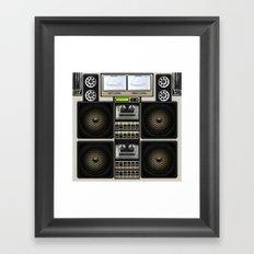 Retro Music Boombox Framed Art Print