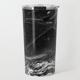 // MARBLED BLACK // Travel Mug