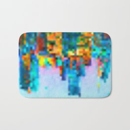 Colorful Pixel Art Print Bath Mat