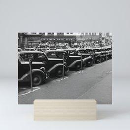Vintage Parked Cars - Nebraska - 1938 Mini Art Print