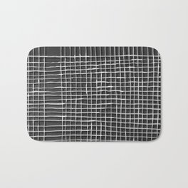 Left - Black and white Bath Mat