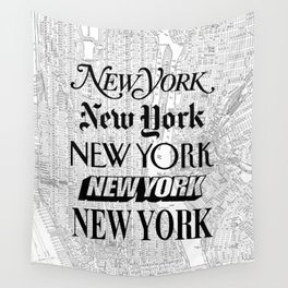 New York City black and white New York poster I love heart NYC Design black-white home wall decor Wall Tapestry