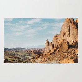 Rock Mountains in the Desert Rug