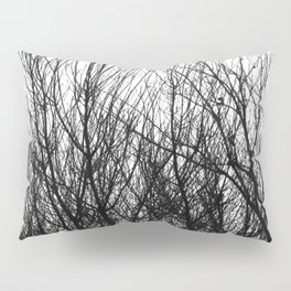 Black white modern abstract tree branch pattern Pillow Sham