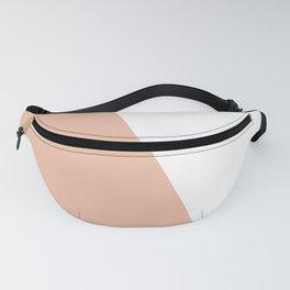 Geometric Ballet Slipper Pink + White Fanny Pack