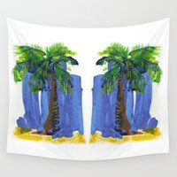 palm tree Wall Tapestries featuring Palm Tree  by Thom Lupari