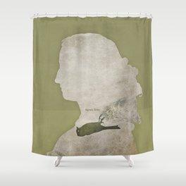 Anne Brontë Agnes Grey - Minimalist literary design Shower Curtain