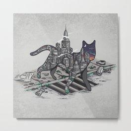 City Cat Metal Print
