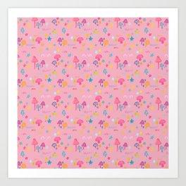 Fun Guy in Pink Art Print