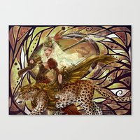 safari Canvas Prints featuring Safari by Bea González