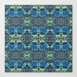 Blue Echinacea, Teal Cone Flowers, Blue Flower Dream Canvas Print