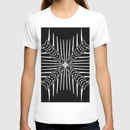 Geometric Black and White Skeleton African-Inspired Pattern T-shirt