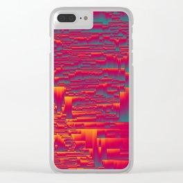 Aztec Sunset Clear iPhone Case