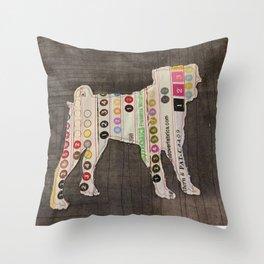 Pug Applique Throw Pillow