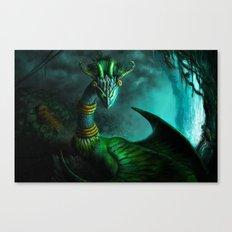 Aztec dragon (older work) Canvas Print