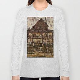 """Egon Schiele """"House with Shingle Roof (Old House II)"""" Long Sleeve T-shirt"""