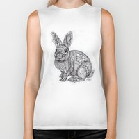 "blush Biker Tanks featuring ""Blush Bunny"" by Cindy Lysonski - Creative Daydreamzzzz"