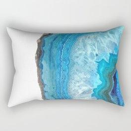 Blue Agate Rectangular Pillow