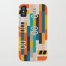 Modern abstract construction iPhone Case