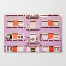 The purple building Canvas Print