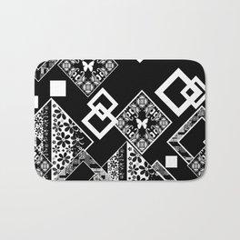 Black and white applique 2 Bath Mat