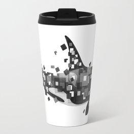 Fractured Killer Whale (mono) Travel Mug