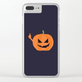 Pumpkin Spice Clear iPhone Case