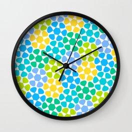 Flower Meadow Wall Clock