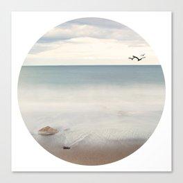 Solace Ocean Seaside Beach Neutral Fine Art Prints Gifts Canvas Print