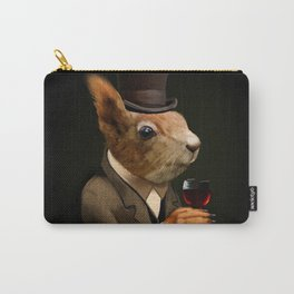 Sophisticated Pet -- Squirrel in Top Hat with glass of wine Carry-All Pouch