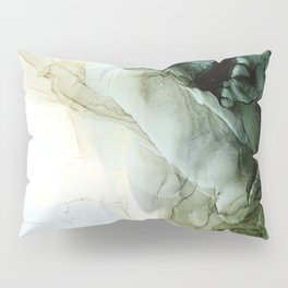 Land and Sky Abstract Landscape Painting Pillow Sham