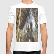 Rochester Cathedral Art White MEDIUM Mens Fitted Tee