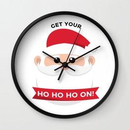 Ho Santa Claus Laughter Christmas Celebration Design Wall Clock
