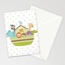 Noah's Ark - White Background Stationery Cards