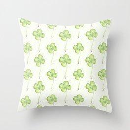 Four Leaf Clover Pattern Throw Pillow