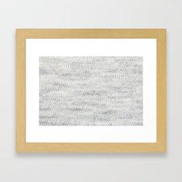 Gray Wool Framed Art Print